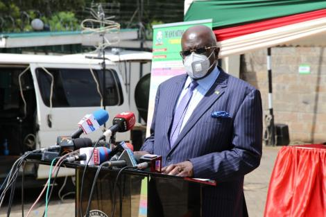 Education CS George Magoha announces the 2020 KCSE results on Monday, May 10, 2021.