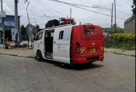 A KRA van spotted during a crackdown in Nairobi on Thursday, March 18, 2021.