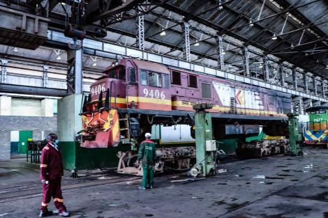 Rihabilitation of an old train underway at Numerical Machining Complex at the Nairobi Central Railway workshops