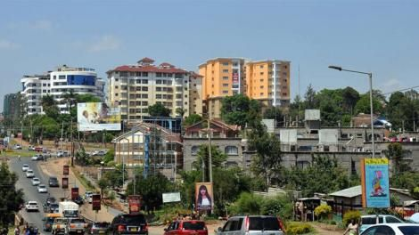 An aerial view of Kileleshwa Estate in Nairobi.