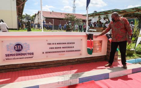 President Uhuru Kenyatta has officially opened the Semi-Conductors Technologies factory at Dedan Kimathi University of Technology on April 26, 2021