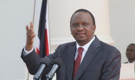 President Uhuru Kenyatta during a previous address.