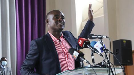 Kakamega senator, Cleophas Malala speaking at an earlier event. Source: Facebook