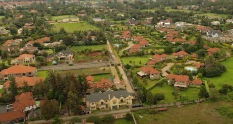 An ariel view of Karen Estate, Nairobi.