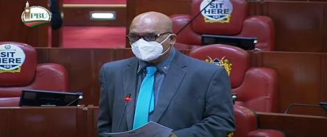 Kisumu East MP Hon. Ahmed Shakeel addressing the Parliament at the National Assembly in Nairobi taken on June 22, 2021.