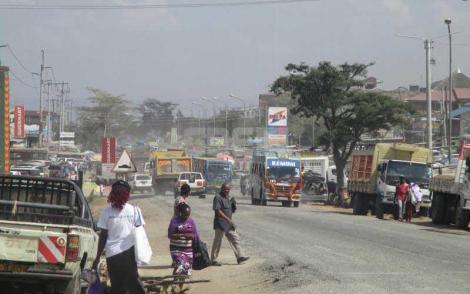 A photo of busy Nairobi estate