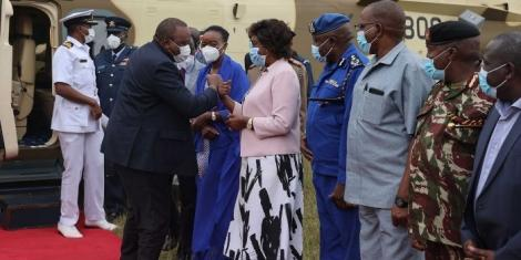 President Uhuru Kenyatta at the Marian Shrine of Our Lady of Protection for a fundraising on Friday, June 25.