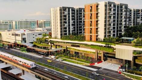 Buildings in Yishun City of Singapore
