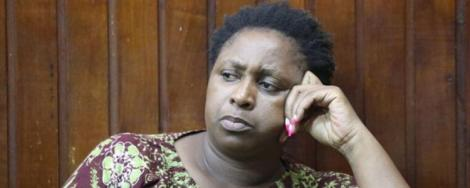 Malindi MP Aisha Jumwa in court in October 2019 after being charged with murder and incitement to violence