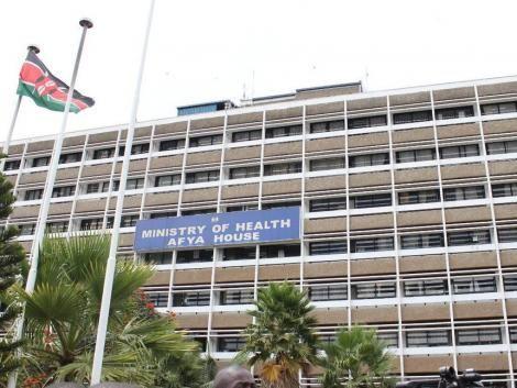 Ministry of Health's Afya House Building in Nairobi, Kenya.