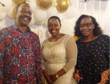 Murang'a Woman Representative Sabina Chege (center), former Nairobi County Speaker Beatrice Elachi and a guest at Rachel Shebesh birthday party.