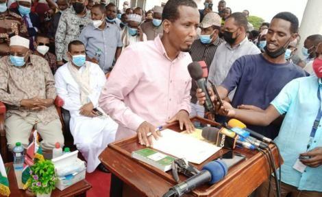 Newly sworn in Wajir Governor Ahmed Ali Muktar