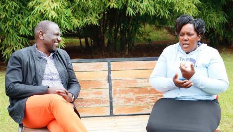 Ruto and a Maize Hawker, Elizabeth Mueni