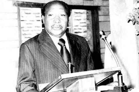 Late Mbiyu Koinange , First Kiambaa MP During The Past Press Briefing