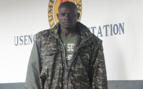 Uganda Police officer who was arrested by Kenyans on July 16, 2021