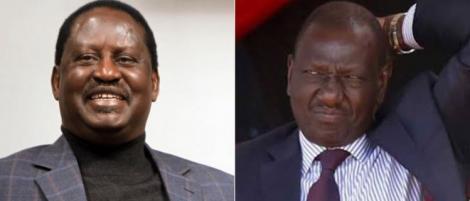 William Ruto and Raila Odinga