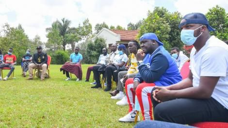 Artists meeting with DP William Ruto on April 24, 2021
