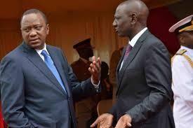 President Uhuru Kenyatta (left) and his Deputy William Ruto