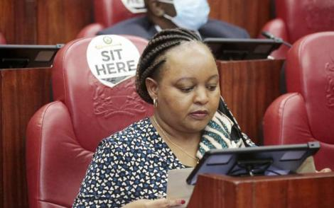 Kirinyaga Governor Anne Waiguru in the Senate During her impeachment hearing in June 2020.