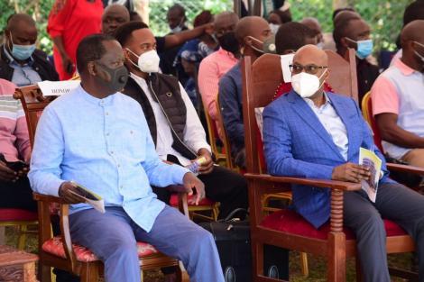 An image of Raila and Wanjigi