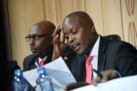 Kieni MP Kanini Kega speaks during a session in Parliament on July 25, 2018.