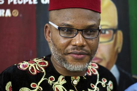 Nnamdi Kanu, the leader of a group that is calling for the independence of Biafra from Nigeria