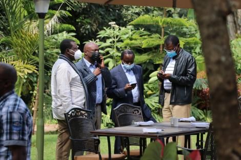 One Kenya Alliance Principals during their meeting held in Nairobi on Wednesday July 20, 2021