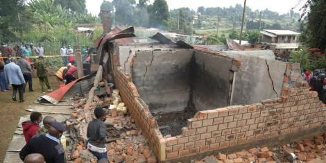 House of a couple burnt alive in Kisii on Thursday July 29