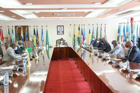 Governors pictured during the Extra-ordinary Council meeting held on April 19, 2021.
