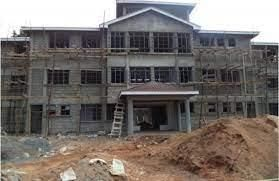 Ongoing construction of a storey building in a secondary school