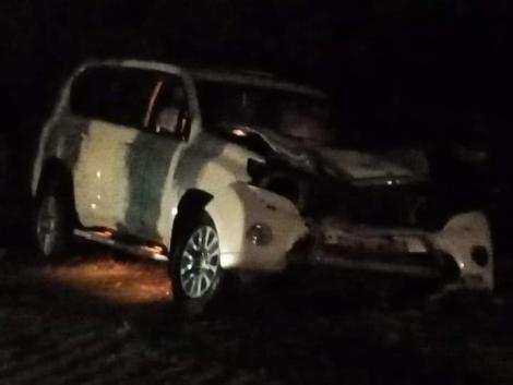 The vehicle which Senator Prengei was travelling in when he was involved in an accident on Monday, August 16