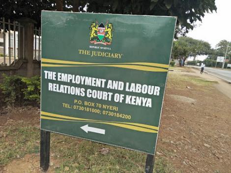 Undated image of Nyeri Law Court