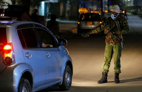 A police officer carrying out a security operation.