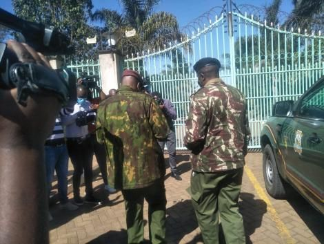 New security detail arriving at DP William Ruto's Karen residence on August 26, 2021