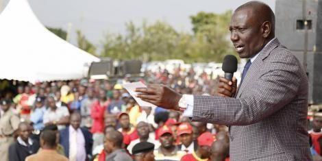 DP Ruto holding campaigns in Vihiga County