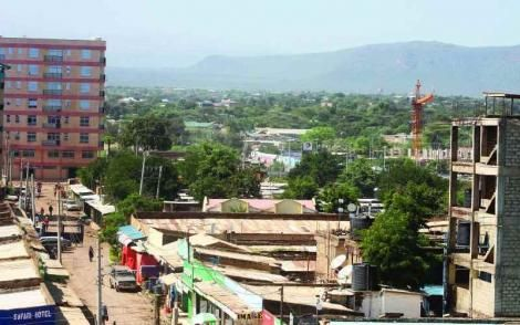 An aerial view of Isiolo town in February 2020.