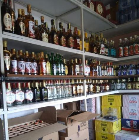 A Wines and Spirits establishment in Kitale.