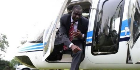 Deputy President William Ruto disembarks a plane during a past trip.