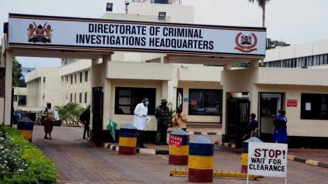 Entrance to the Directorate of Criminal Investigation (DCI) headquarters along Kiambu Road
