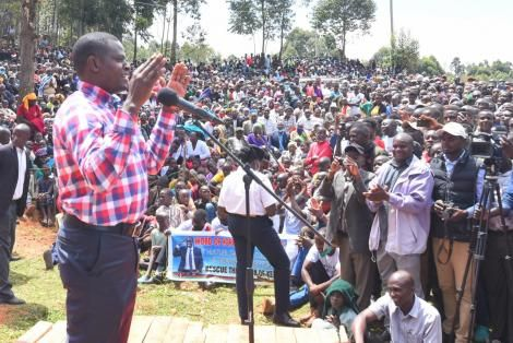 Kiharu MP Ndindi Nyoro speaking in Nyamira County of October 15, 2020