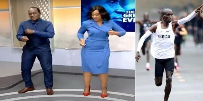 Watch Jeff Koinange, Victoria Rubadiri Dance in Honour of Eliud Kipchoge