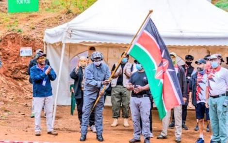 ATPU Directer Moses Otieno During the Kickstart of the Competition on September 4, 2021.
