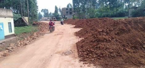 A section of the Kebuku-Nyangusu- Nyamache- Nyacheki road under construction.