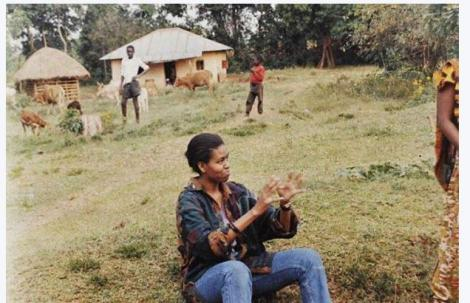 Former US First Lady Michelle Obama during her trip to Kenya
