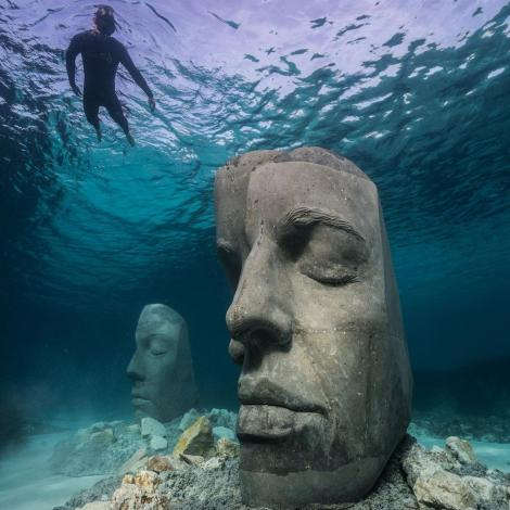 Undated Photo of Underwater Museum in Cannes