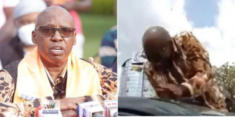 Presidential aspirant Jimi Wanjigi addresses journalists after he was pelted with stones in Migori on Friday, September 17.