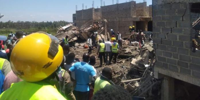 Seven Rescued as Kisumu Building Collapses