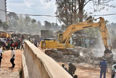 Demolitions of structures belonging to Deep Sea Community near Muthaiga on Friday, October 1, 2021