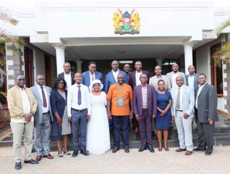 Machakos MCAs pay a visit to DP William Ruto.