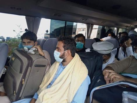 Pakistani Nationals in a bus in Westlands, Nairobi on Thursday, September 30, 2021.